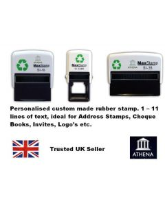 MaxStamp Maxum Self Inking Custom Rubber Stamps - (1 to 11 lines of text)