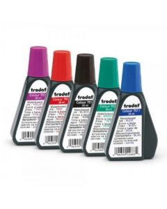 TRODAT STAMP PAD INK AVAILABLE IN BLACK, BLUE, RED, GREEN OR VIOLET 28ml Bottle