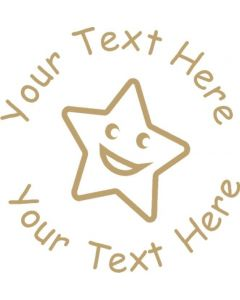 Custom MOTIVATIONAL TEACHER REWARD STAMP 22mm - Smiling Happy Star-2