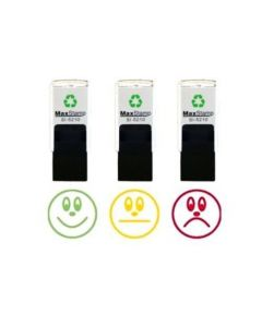 Traffic Light Faces - 3 x Individual School Teacher Reward Stamps - 18mm