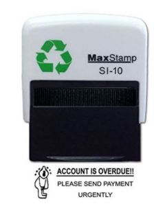 ACCOUNT IS OVERDUE Self Inking Stamp - 36 x 13mm - Handy Pocket Stamp