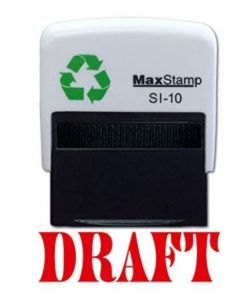 DRAFT Self Inking Stamp - 36 x 13mm - Handy Pocket Stamp