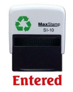 ENTERED Self Inking Stamp - 36 x 13mm - Handy Pocket Stamp