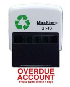 OVERDUE ACCOUNT Self Inking Stamp - 36 x 13mm - Handy Pocket Stamp