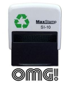 OMG !  Self Inking Stamp - 36 x 13mm - Handy Pocket Stamp