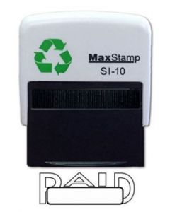 PAID  Self Inking Stamp - 36 x 13mm - Handy Pocket Stamp