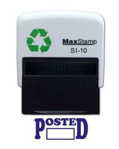 POSTED  Self Inking Stamp - 36 x 13mm - Handy Pocket Stamp