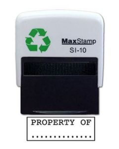 'PROPERTY OF' Self Inking Stamp - 36 x 13mm - Handy Pocket Stamp