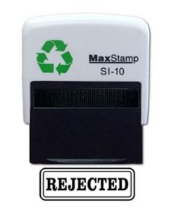 'REJECTED' Self Inking Stamp - 36 x 13mm - Handy Pocket Stamp