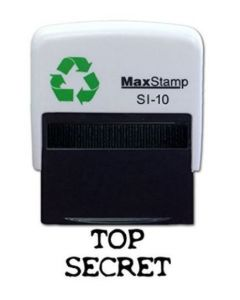 TOP SECRET  Self Inking Stamp - 36 x 13mm - Handy Pocket Stamp