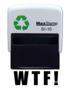 WTF !  Self Inking Stamp - 36 x 13mm - Handy Pocket Stamp-2