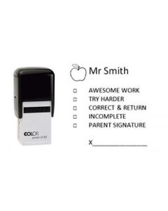 School Teacher Personalised Custom Stamp for Classwork, Homework, etc 30mm