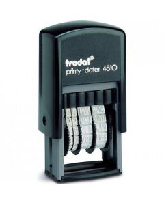 TRODAT PRINTY 4810 Budget Mini Dater Stamp Self-Inking - Black Ink-2
