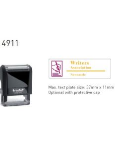 Trodat 4911 MULTI COLOURED Custom Stamp 37mm x 11mm (69392)