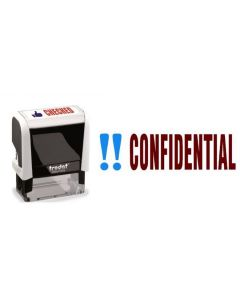 CONFIDENTIAL - Two colour Office Word Stamp (77238)