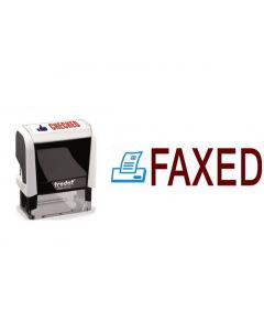 FAXED - 2 colour Office Word Stamp (77240)