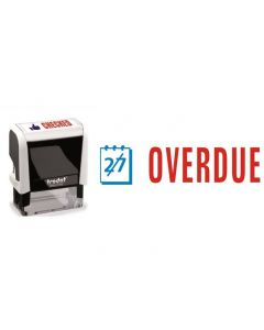 OVERDUE - Two colour Office Word Stamp (77245)