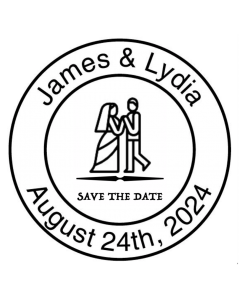SAVE THE DATE 40MM CUSTOM STAMP - First Dance
