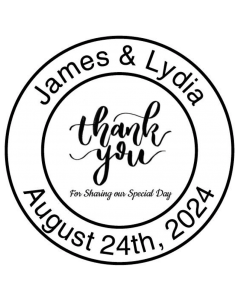 SAVE THE DATE 40MM CUSTOM STAMP - Special Day Thank You