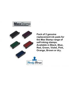 Twin Pack Replacement Ink Pads for Maxum (Max Stamps) Max 3.5