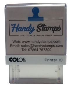 2 line High Quality Custom made Stamp with handy keyring (C130827)