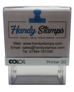 4 line High Quality Custom made Stamp (C144753) - 37mm x 13mm