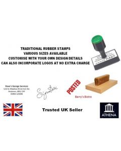 [75mm x 50mm - RS23] PERSONALISED/CUSTOMISED RUBBER STAMP ADDRESS, BUSINESS, SCHOOL, GARAGE, SHOP etc.