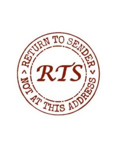 RETURN TO SENDER - 40mm Circular Self-inking address stamp