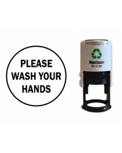 PLEASE WASH YOUR HANDS SELF INKING (ROUND)