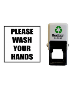 PLEASE WASH YOUR HANDS SELF INKING (SQUARE)
