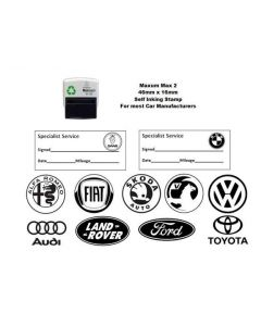 Self Inking 46mm x 16mm GARAGE SERVICE Stamp - most manufacturers available[Vauxhall]