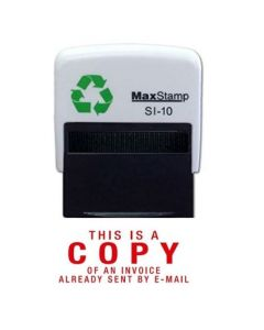 'This is a COPY of Invoice already emailed' - Self Inking office word stamp