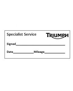 MOTORCYCLE SERVICE STAMP - TRIUMPH