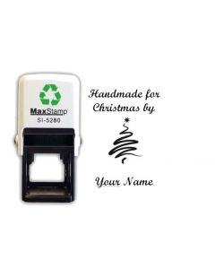 Christmas Tree Handmade by card / envelope self inking stamp (28mm)